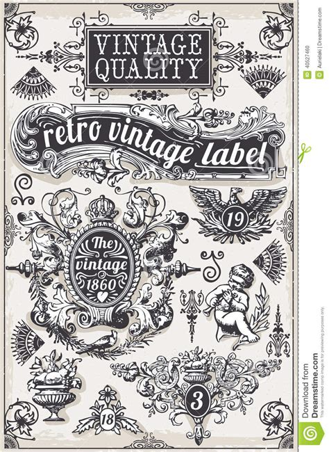 dafont royalty free vintage hand drawn graphic banners and labels stock photo