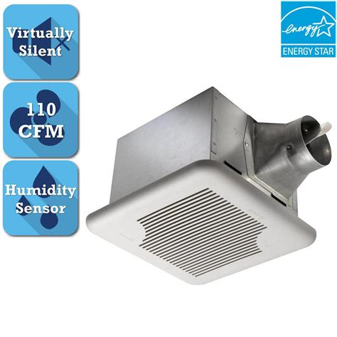 bathroom exhaust fan with humidity sensor delta breez signature series 110 cfm ceiling bathroom
