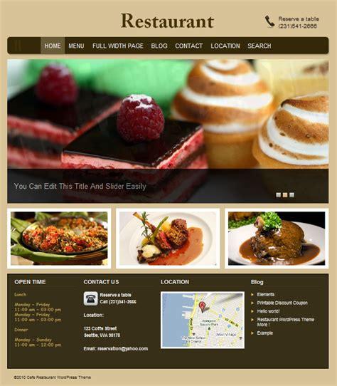 restaurant themes html best restaurant wordpress theme restaurant dobeweb