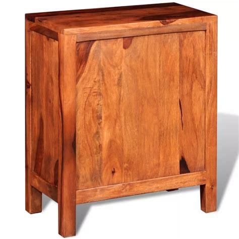 cassetti legno comodino con 2 cassetti in legno massello di sheesham