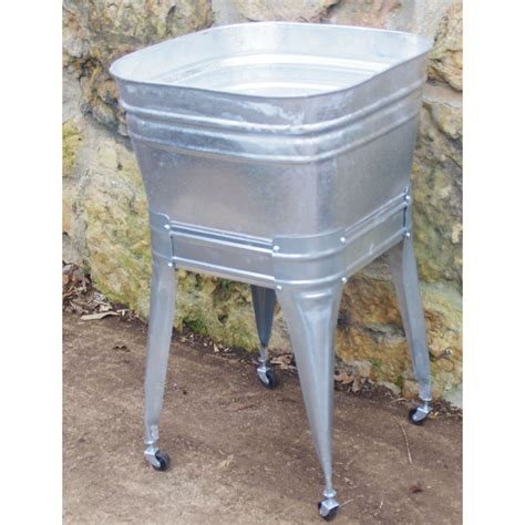 galvanized wash tub sink square wash tub with stand single or wisemen