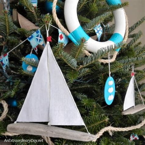 a nautical xmas how to make easy sailboat ornaments an extraordinary day