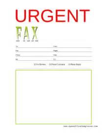 urgent fax cover sheet openoffice template