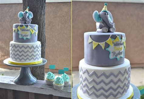 Elephant Baby Shower Decorations by Baby Shower Thebakeboutique Page 3