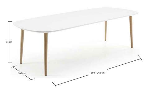 mesa nordica extensible mesa nordica extensible blanco mate haya 160 260x100 www