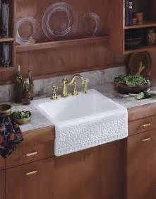Kitchen Apron Sinks Cupboards Kitchen And Bath Apron Sink Trends Kohler