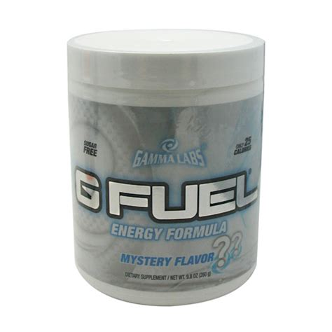 g fuel supplement facts gamma labs g fuel mystery flavor 40 servings 280 g