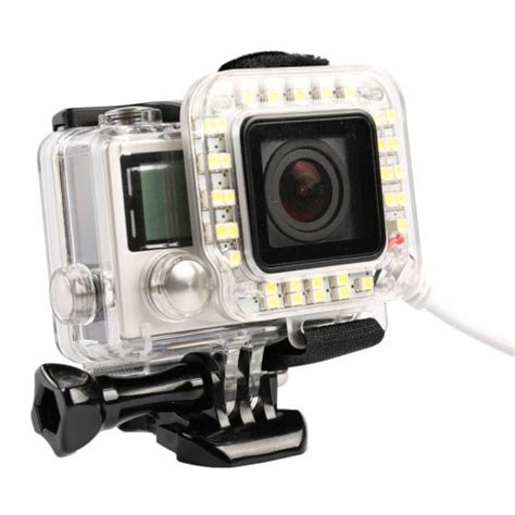 Gopro 4 Bandung usb led light lens ring for gopro 4 3 frame white jakartanotebook
