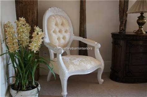 cream bedroom chairs chatsworth diamond chair french painted white with cream