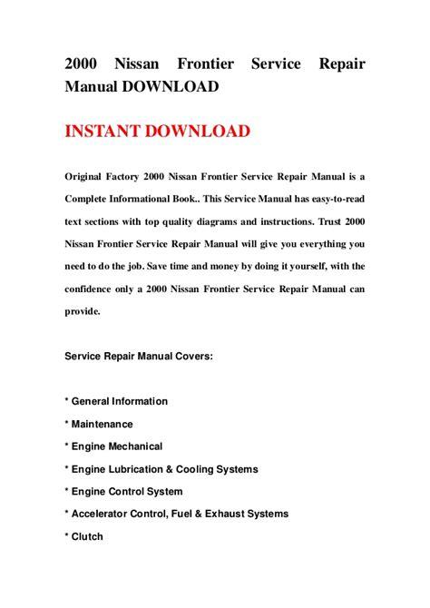 service manuals schematics 2000 nissan altima engine control 2000 nissan frontier service repair manual download