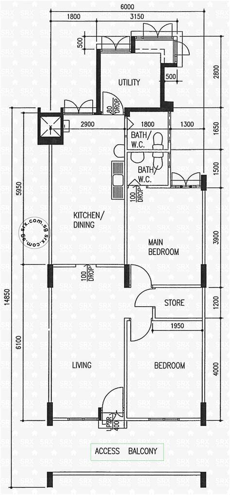 hdb floor plans floor plans for ang mo kio avenue 4 hdb details srx property