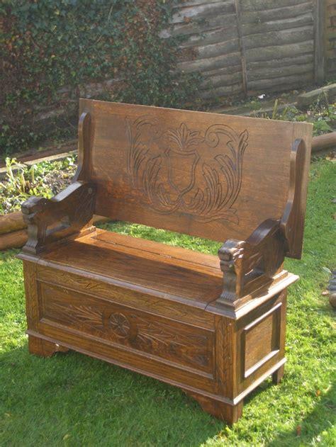 antique table bench antique carved oak monks bench table
