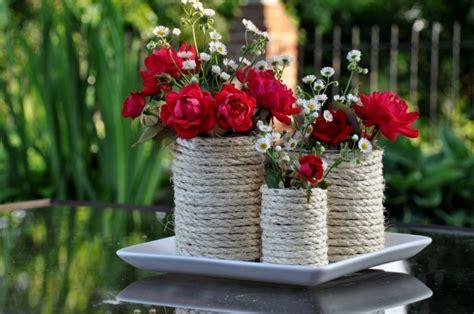 decorar jarrones con yute cuerdas de c 225 241 amo para decorar cuencos y jarrones