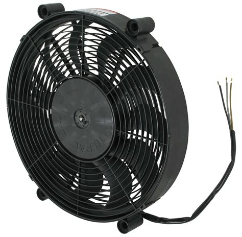 taurus electric fan cfm derale 17 quot high output electric single radiator fan