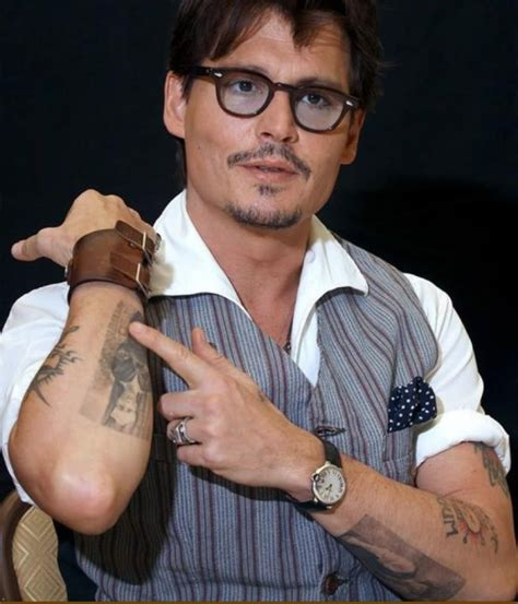 johnny depp lily rose tattoo johnny depp and