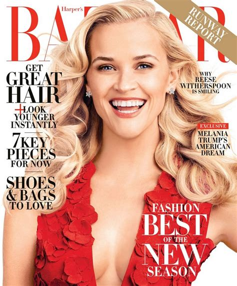 In Harpers Bazaar by Reese Witherspoon S Bazaar Magazine February 2016