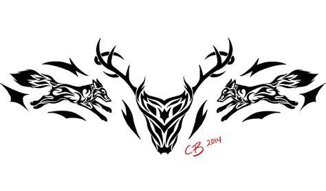 tribal pattern deer tribal deer tattoo by casey bemis on deviantart