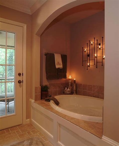 my dream house will have an enclave like this for the bath