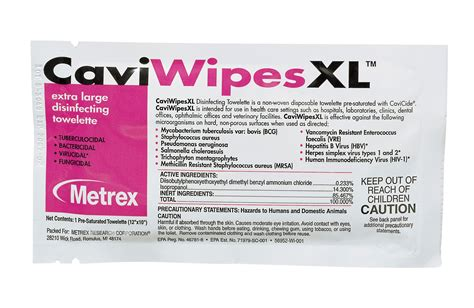 printable barbicide label caviwipes surface disinfectant from metrex metrex