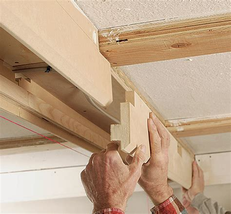 Diy Box Beam Ceiling by Tips For A Coffered Ceiling