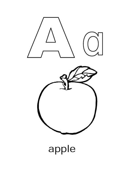 Letter A Coloring Pages  GetColoringPagescom sketch template