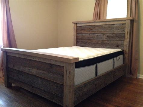 Wooden Bed Frame Ideas Barn Wood Bed Frame So Amazing Barn Wood Ideas Beds Barn Wood And