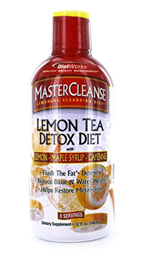 Nutrition Works 48 Hour Acai Lemon Detox Liquid Reviews by Dietworks Master Cleanse Lemon Tea Detox Diet 32 Fluid