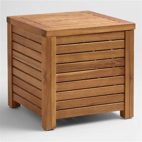 market outdoor table wood praiano outdoor storage side table market