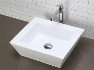 arched square white ceramic vessel