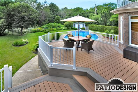 Patio L by Patio Design Construction Design Of Trex Terraces And