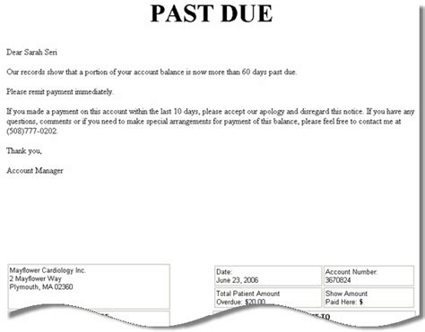 Past Due Invoice Letter Template Resume Builder Invoice Past Due Notice Template