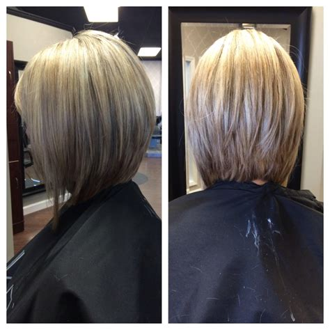front and back view of bobstyle hair cut inverted bob pictures show front and back view