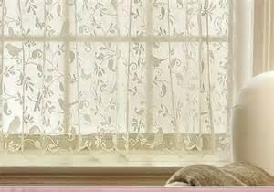 Bird Lace Curtains Gorgeous Birds Lace Curtain 30 Quot Tier Panel Kitchen Bathroom Bedroom