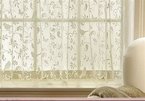 curtains with birds on them gorgeous birds lace curtain 24 quot tier panel kitchen