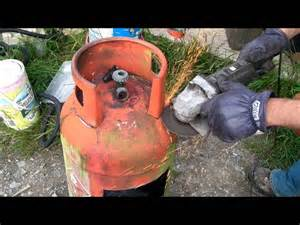 Patio Gas Fire Pit Gas Bottle Outdoor Heater Youtube