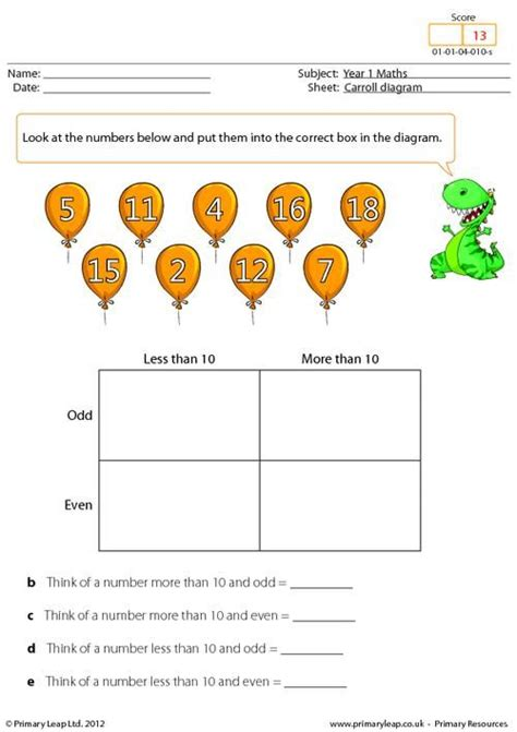 primaryleap co uk data carroll diagram worksheet