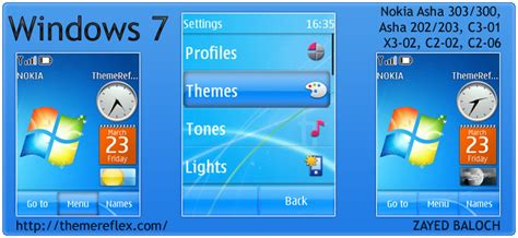 nokia c3 themes windows xp windows 7 theme for nokia asha 303 300 x3 02 c2 02 and