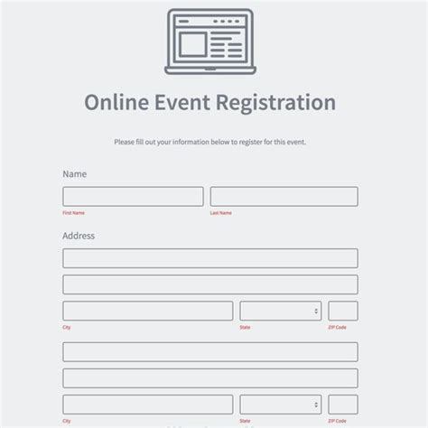 event registration form builder powered by formstack