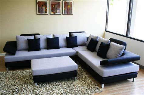 l sofa design white blue and black color corner sofa in mumbai at