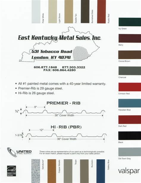 valspar paint chart building supplies london ky east kentucky metal sales