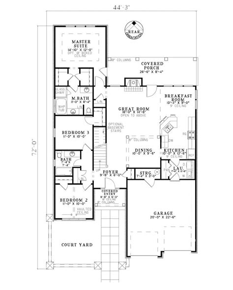 hacienda bay sunbelt home plan 055d 0780 house plans and