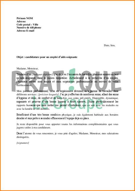 Exemple De Lettre Motivation Aide Soignante 5 Lettre De Motivation Pour Concours Aide Soignante Exemple Lettres