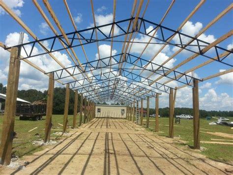 bailey barns pole barn steel trusses barn
