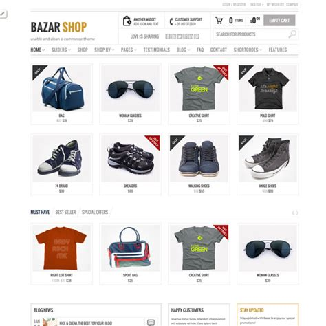bazar shop wordpress theme wordpress themes 2018
