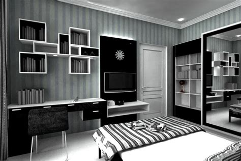 model rumah minimalis terbaru gaya monokrom renovasi