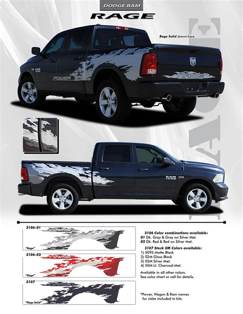 ram truck graphics 2009 2018 dodge ram quot rage quot rear bed truck power wagon