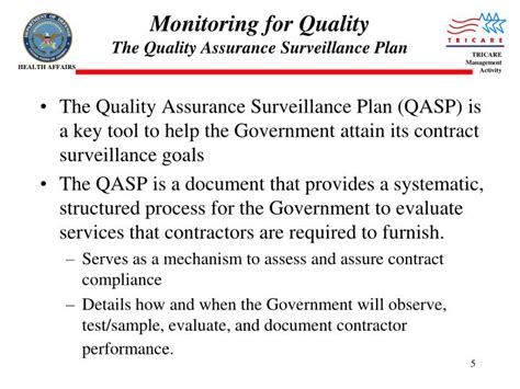quality assurance surveillance plan template ppt contract surveillance powerpoint presentation id