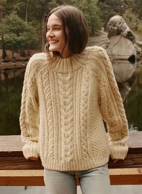 O S Knit Sweater 2 fashion solid sleeve cable knit sweater azbro