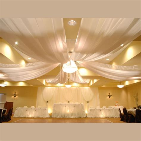 Draped Ceiling by 6 Panel Sheer Voile 30ft Ceiling Draping Kit 62 Wide
