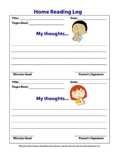reading log for high school students template education world home reading log template